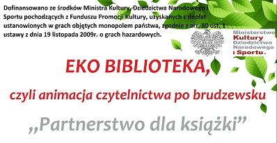 Logo - EKO biblioteka, czyli animacja czytelnictwa po brudzewsku