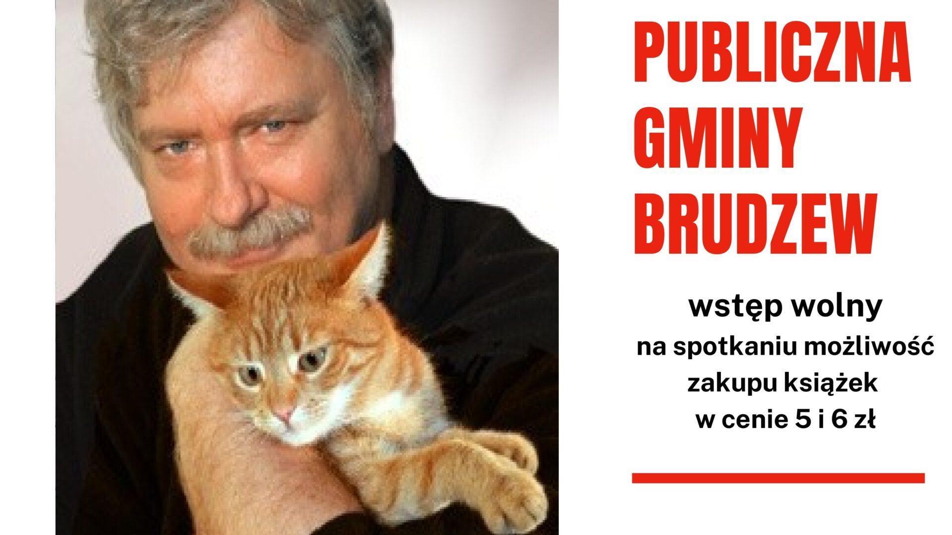 plakat informujący o spotkaniu autorskim z Wiesławem Drabikiem